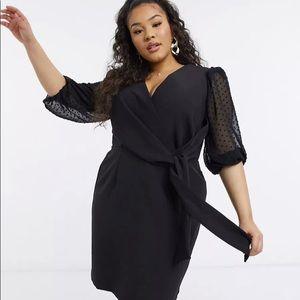 ASOS Design Wrap Front Mini Dress